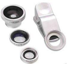 3 in1 Teléfono Móvil conjunto de lente de cámara gran angular macro ojo de pez Clip Ipad Iphone