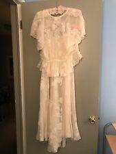 VINTAGE HOLLY HARP WEDDING 3 PIECE DRESS  SMALL 1980