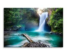 Wandbild Landschaftsfotografie Wasserfall im Regenwald auf Leinwand