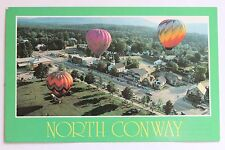 Postcard BALLOONS OVER THE VILLAGE OF NORTH CONWAY, N.H.