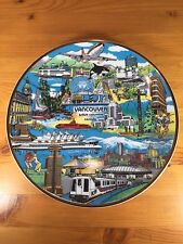 "Vancouver BC Collectors Plate ""The World In A City"" Capilano Hanging"