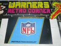 nfl Nintendo nes Video game Manual only retro official