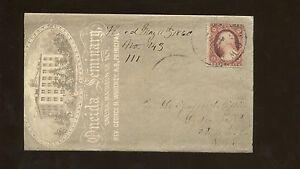 1860 Watertown New York Oneida Seminary Rev George H Whitney Ad Postal Cover