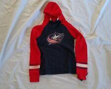NHL Girl's Columbus Blue Jackets Hoodie Blue/Red Sweatshirt Size L-14