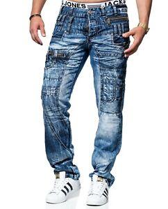 KOSMO LUPO Herren Jeans Hose Denim Zipper NEU! KM020