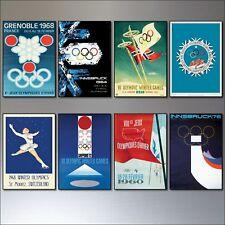 Olympic Winter GIOCHI POSTER VINTAGE DA COLLEZIONE CALAMITE DA FRIGO 8 SPORT