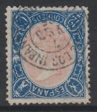 Spain - 1865, 12c Rose & Blue stamp - Frame Inverted - F/U - SG 88a