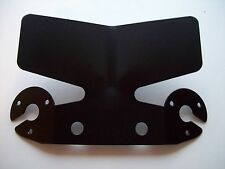 Double socket Black steel bumper protector plate for 2 bolt flange towbar/Towing