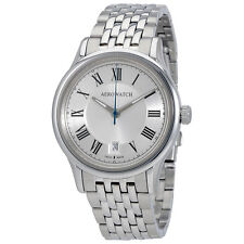Aerowatch Les Grandes Classiques Silver Dial Stainless Steel Mens Watch A 24962