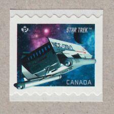 STAR TREK = STARSHIP GALILEO = small standard Coil/Roll stamp MNH Canada 2017