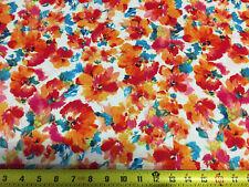 Rayon Challis  Woven Fabric Natural Fiber Beautiful Floral Print 100% Rayon