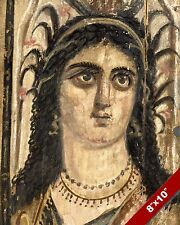 EGYPTIAN GODESS ISIS MUMMY PORTRAIT PAINTING ROMAN EGYPT ART REAL CANVAS PRINT