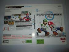 Nintendo Wii  Mario Kart Artwork Insert