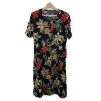 Fashion Rack Womens Button Dress Size 12 Floral Short Sleeve Made In Australia