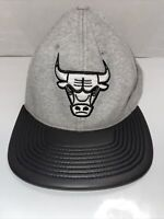 Mitchell & Ness Snapback Cap - Leather Brim Chicago Bulls grey NBA Jordan