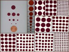 Maroon Red Velvet Bindi Dot Tattoo Stickers 9 Cards in different sizes (P16)