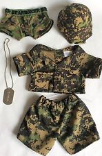 BUILD A BEAR – ARMY/ CAMOUFLAGE COSTUME – OUTFIT/ SET/ TOY