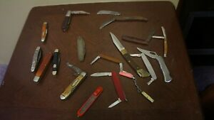 LOT OF POCKET KNIVES PARTS OR REPAIR ULSTER CAMILLUS IMPERIAL CHINA AS IS LOT 15