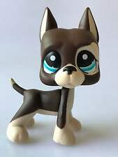 Hasbro Littlest Pet Shop Collection LPS Toy Chocolate Great Dane Dog Dot Eyes