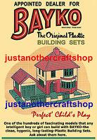 Bayko Building Set 1950's Large A3 Size Poster Advert Leaflet Shop Display Sign