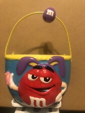 M&M Collectible Miniature Ceramic Easter Basket 7 in tall4.5 wide