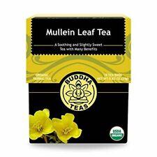 Buddha Teas Organic Mullein Leaf Tea | 18 Tea Bags | Made in the US | No Caff...