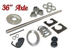 "Drift Trike 1-1/4"" x 36"" Axle Kit w/ #40 Chain Sprocket Wheel Hubs Parts Package"