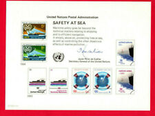 "United Nations (SC 23) "" Safety At Sea "" 1983 Souvenir Card Set of  4"