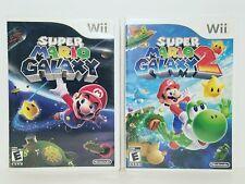Super Mario Galaxy (2007) & Super Mario Galaxy 2 (2010) Nintendo Wii