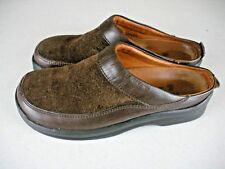 Birkenstock Footprints Brown Suede/Leather Mules Clogs Shoes Women's 39 / 8