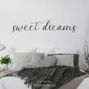 Master Bedroom Sweet Dreams Wall Decal~ Sign, For Over Bed, Above Bed Decor