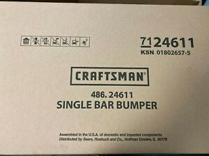 Craftsman Universal Single Bar Bumper 24611 Mounts Easily New In Box