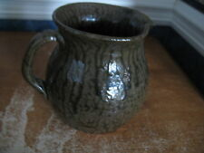 Cleater Meaders Pitcher Brown Tobacco Spit Glaze 1988 Georgia Pottery EUC 6.75""