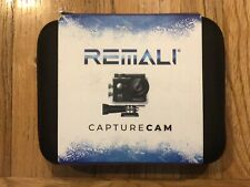 REMALI CaptureCam 4K Ultra HD Action Camera w/ Case Batteries Remote * NEW
