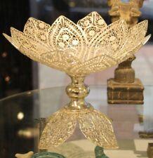 Filigree vase Silver plated vase Fruit bowl silver gift centerpeice wedding gift