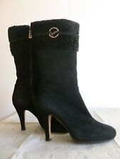 Real suede leather high heel boots 37size Stivali GUESS camoscio Nero