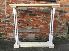 H95 W85 D25cm BESPOKE CONSOLE HALL TABLE Untreated