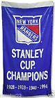 New York Rangers Huge 3 x 5 NHL Stanley Cup Banner - Free Shipping