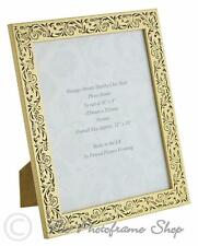 Handmade 10x8 Inch Photo Frame - Vintage Gold and Black Floral