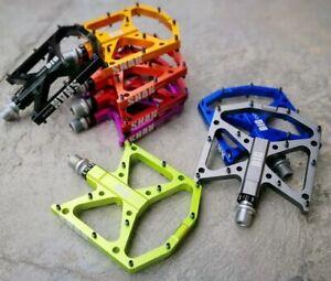 BIGDOG Steel Road MTB Mountain Bicycle Bike Pedal 3 Bearing Flat-Platform Pedals