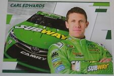 2016 Carl Edwards Subway Toyota Camry NASCAR Sprint Cup postcard