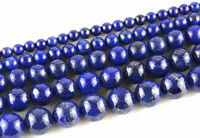Natural Lapis Lazuli Rondelle Gem Stone Loose Spacer Beads Jewelry Making 4-10mm