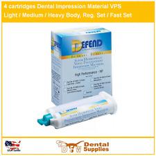 4 cartridges Dental Impression Material LIGHT BODY Fast Set