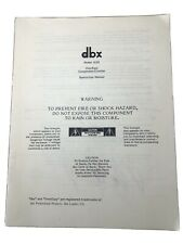 dbx 163x Over Easy Professional Compressor / Limiter-Manual Only