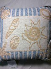 Old Key West Pillow Sea Shells Afghan Throw Pillow Nantucket II