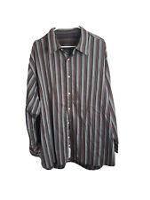 Robert Graham Long Sleeve Button Down Purple Embroidered Shirt Size 3XL 3XLB