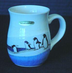Handpainted PENGUIN Coffee Tea MUG