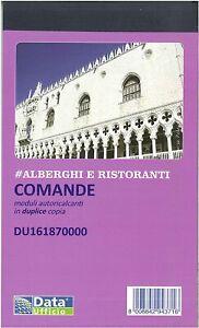 10 Blocchi Comande 2 Copie Data Ufficio du161870000