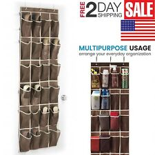 Over the Door Shoes Organizer Rack 24 Pockets Wall Hanging Closet Shoe Storage