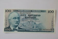 ICELAND 100 KRONUR 1961 UNC B20 BK303